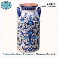 Hand Crafted Newest Design Living Room Floor Blue And White Chinese Vase