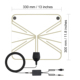 made in china 470mhz-862mhz digital dvb-t thin indoor hdtv antenna with amplifier