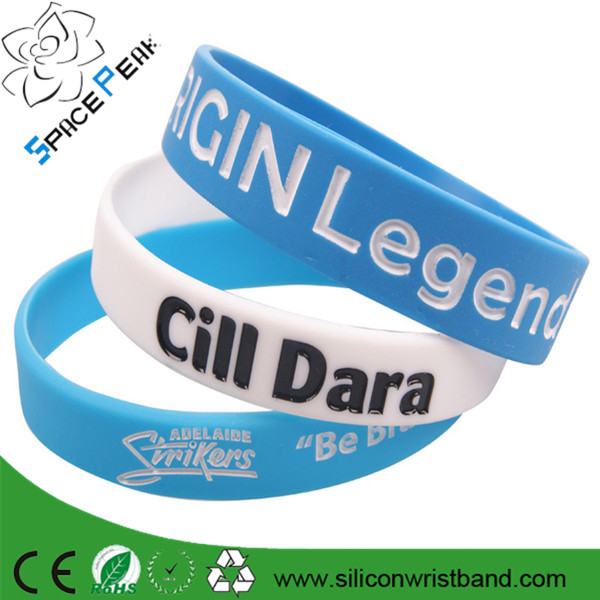Rainbow silicone wristband custom wristband cheap silicon band 1/2 inch rubber bracelet