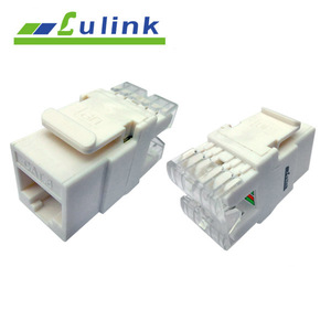 UTP 180 Degree Cat 6 Keystone Jack For Wall Plate