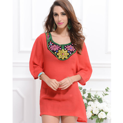ddaa50a2bef Buy Loose Linen Cotton Tops Women Blusa Floral Blouses Asymmetric Ropa Mujer  Blusas Femininas Shirt Tropical Beaded Tops SHK01 in Cheap Price on  m.alibaba. ...