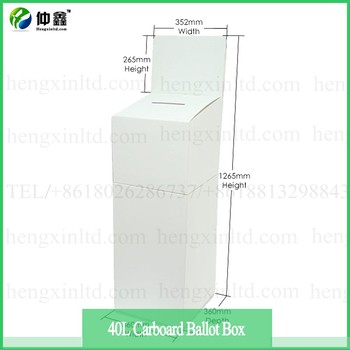Hot Sale Corrugated Cardboard Voting Boxes