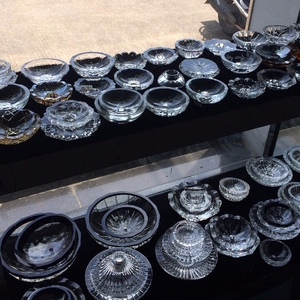 Crystal Candle Plates 1043