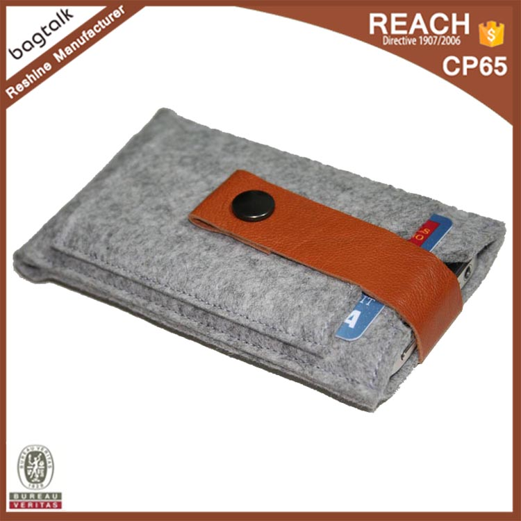 FB0112 Wholesale Fashion Designed Wallet Felt Cell Phone Case Card Holder Wallet