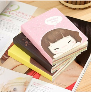 Cheap cute mini korean stationery pocket glued notebook for school