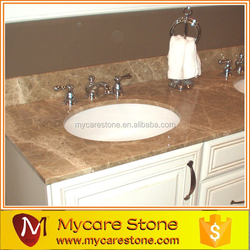 Light Emperador Marble Vanity Top