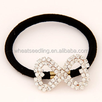 2014 New Arrival Ladies Bowknot Diamond Hair Rubber Band - Buy ... 29c1746a0aa