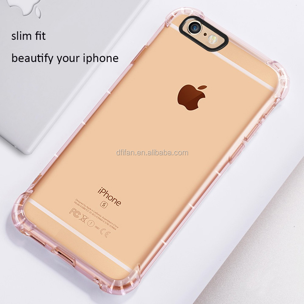 Best Seller Smart Phone Case Transparent Air Cushoned TPU Back Cover for iphone 6/6s