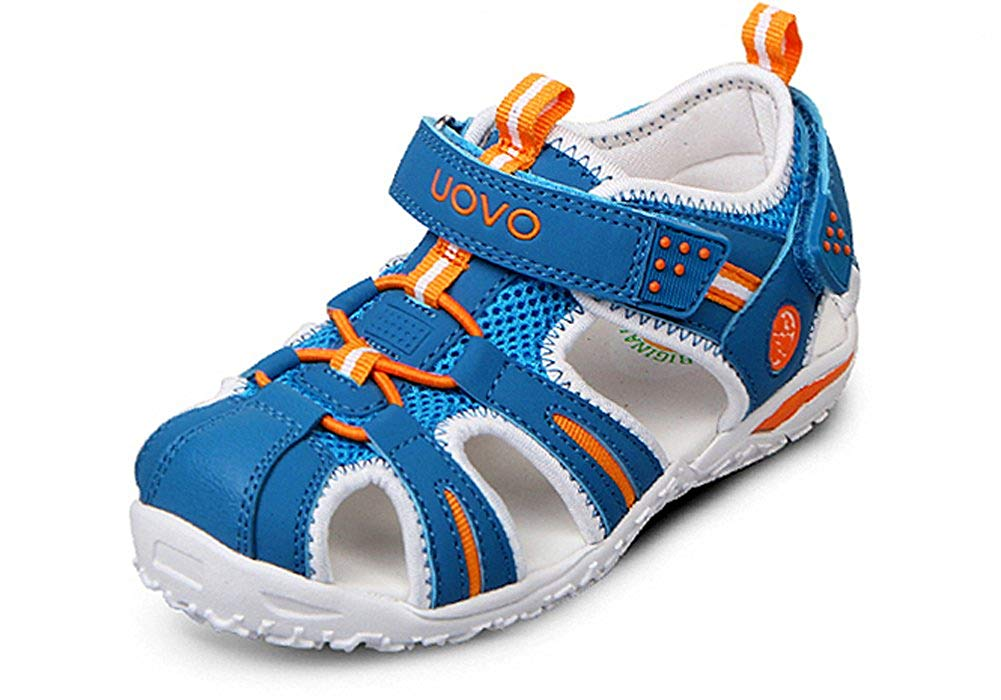 6a4d1368158 Get Quotations · iDuoDuo Kids Outdoor Athletic Bungee Closed Toe Hook-and- Loop Sport Sandals (Toddler
