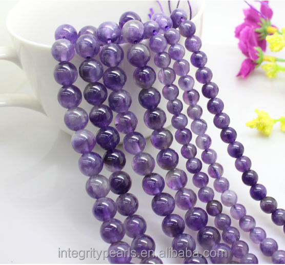 8mm natural real genuine good quality gemstone beads amethyst <strong>stone</strong> prices