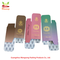 2018 new arrivals china supplier personalisation rectangle gradients hot stamping flower paper box for personal care