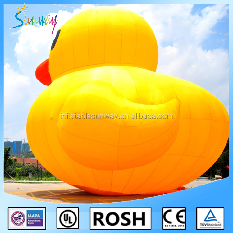 Sunway PVC Inflatable Yellow Duck, Inflatable Air Duck, Inflatable Farm Animals For Sale