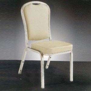 Stackable Metal Seat Cushion Bridal Banquet Church Chair