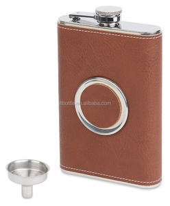 8oz Stainless Steel Hip Flask Shot Flask with Collapsible 2oz. Shot Glass and Bonus Funnel