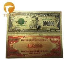 Отличный домашний декор, американский цвет, позолота, Банкнота 1934 года, 100,000 доллара США, купюры для коллекции(Китай)