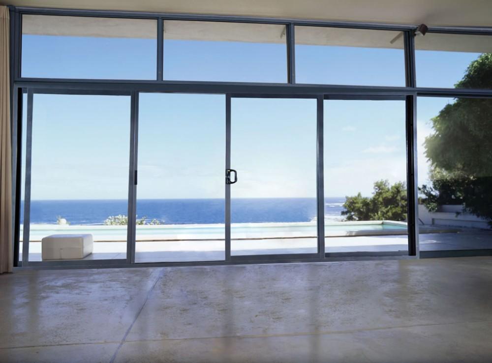 Corrosion Resistant Residential Patio Aluminum Sliding Glass Door