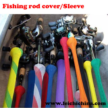 Colorful fishing rod covers sleeves buy fishing rod for Fishing pole sleeves