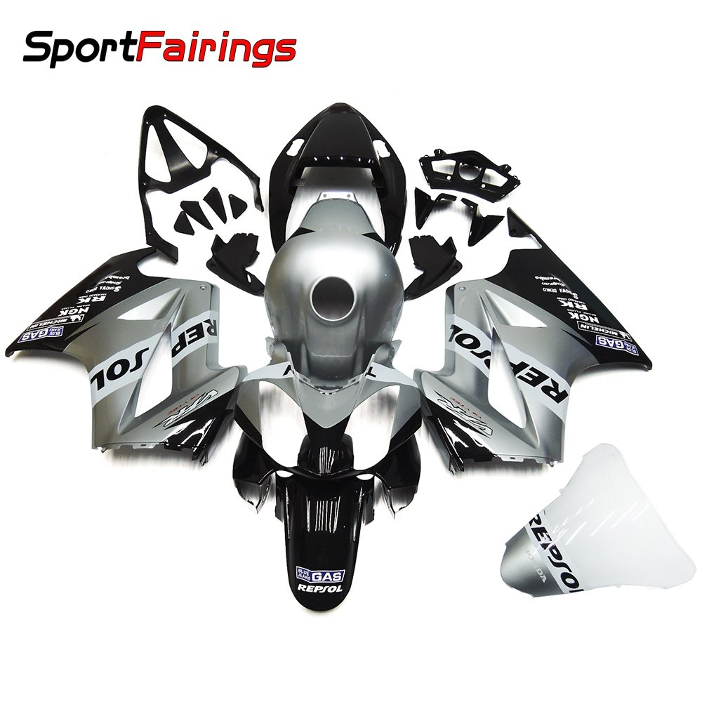 Sportfairings Complete Injection Fairing Kits For Honda VFR800 RC46 2002-2012 Fairings Silver Black Cowlings