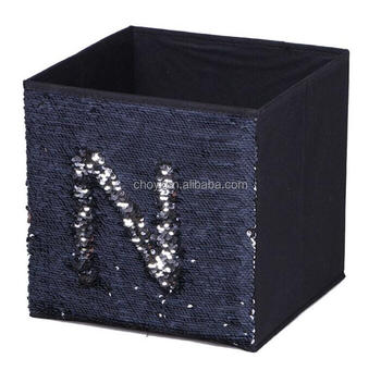 Bedroom Storage Bin Reversible Mermaid Sequin Storage Box Non Woven Fabric  Foldable Clothes Organizer Storage Boxes - Buy Storage Bin,Sequin Storage  ...