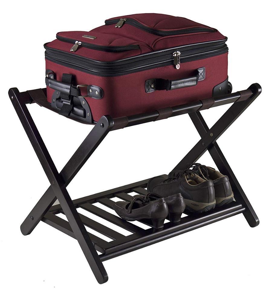 Bamboo Folding Luggage Rack Suitcase Stand Bamboo Luggage Stand