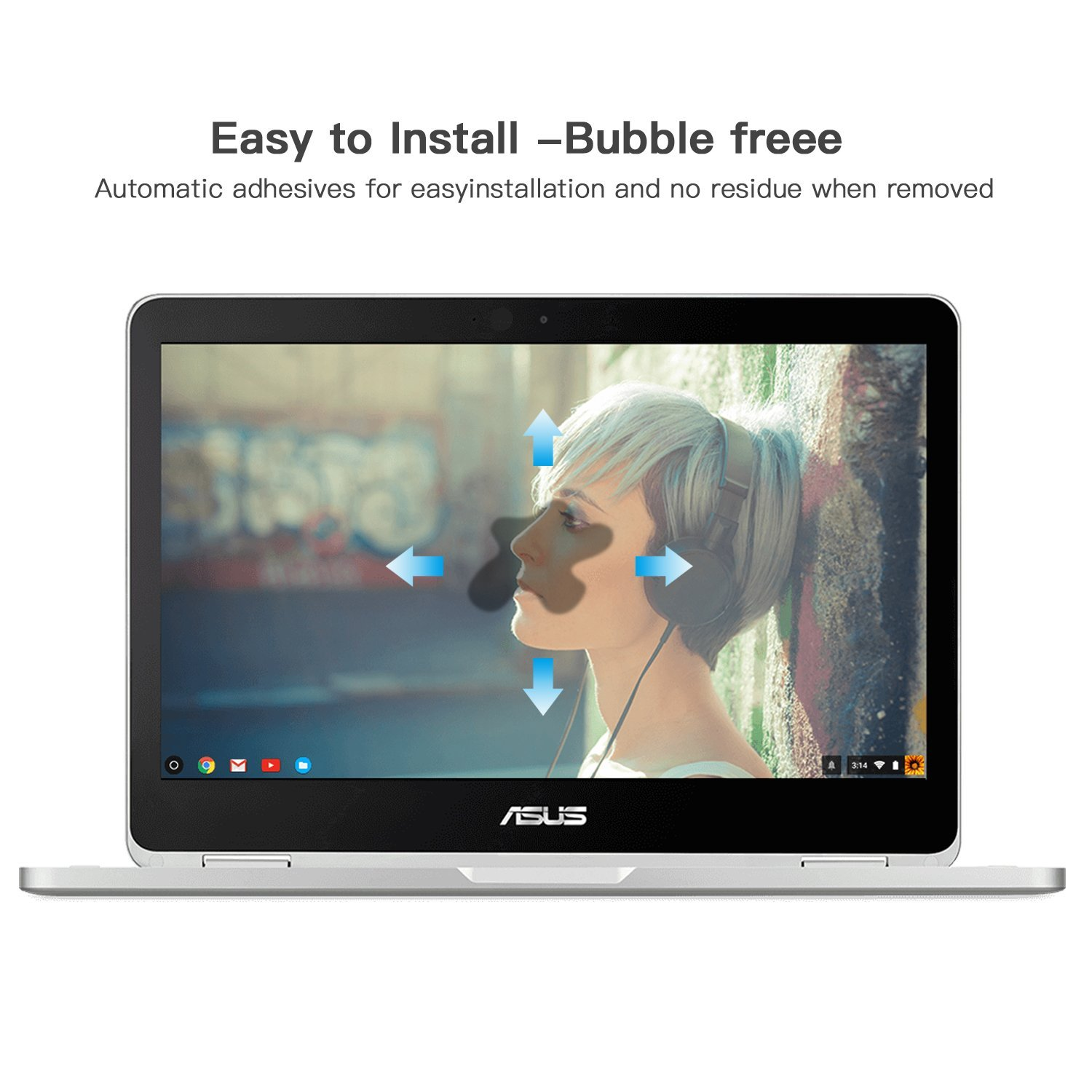 Tempered Glass Screen Protector for ASUS Chromebook Flip 12.5/ASUS C302CA-DHM3-G