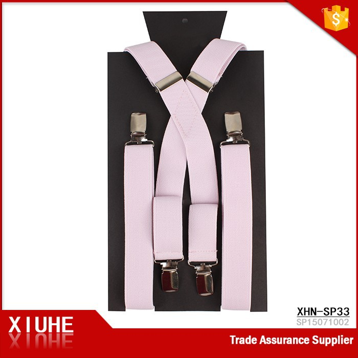 Top Quality Fashion Color Girls Pink Braces Suspenders
