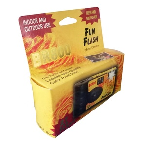 cheap indoor outdoor use one touch fun promotional flash camera with film