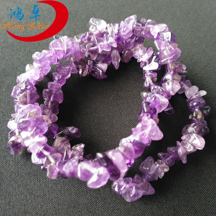 Best selling hot chinese products amethyst bracelet gemstone chip bracelets stone bead