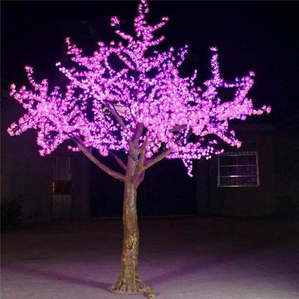 2m pink cherry baum licht wasserdicht outdoor led lichter baum ip65 2 0 hoch beleichtung in den. Black Bedroom Furniture Sets. Home Design Ideas