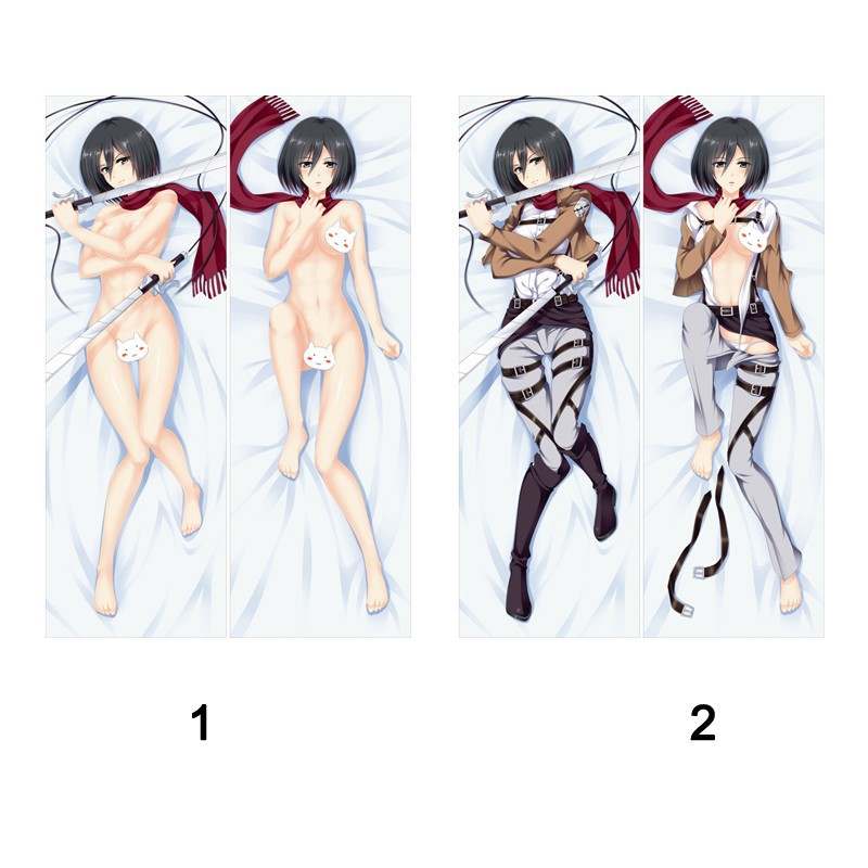 Wholesale Attack On Titan Mikasa Ackerman Anime Dakimakura Pillow Cases Cosplay 2015 Hot Cartoon Christmas Gifts Express Free Ship Bz0083