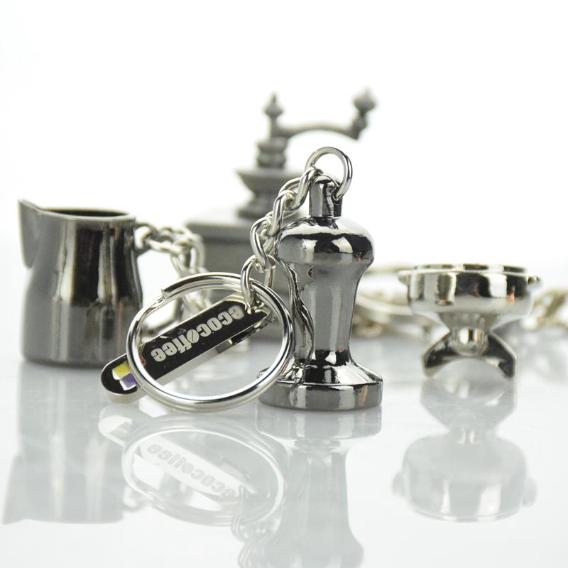 Coffee Keyring Coffee Tamper Keychain MINI Profilter Keyring Coffee Tamper/Coffee pitcher/ Grinder Keyring фото