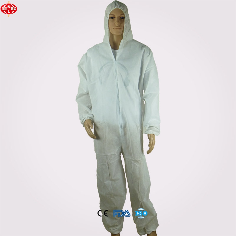 Xiantao Lijun Factory Directly Supply High Quality NONWOVEN SMS disposable COVERALL/workwear/work suit/Safety coverall