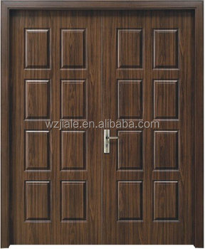Delightful Wooden Main Door Design, Wooden Double Door