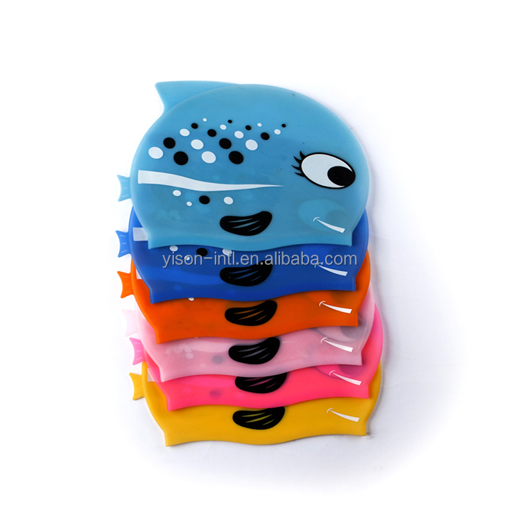 Hot sale promotional swiming cap,customized logo printed waterproof silicone swimming cap