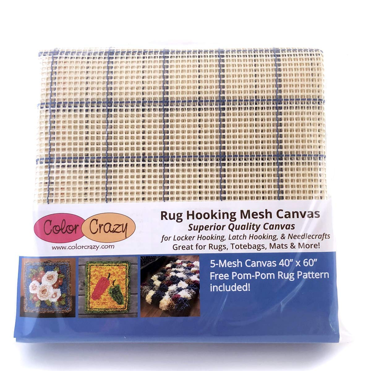 Get Quotations Rug Hooking Mesh Canvas 5 40 X 60 With Free