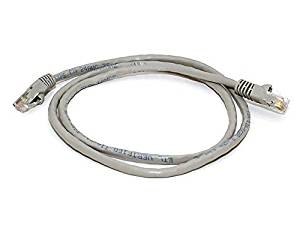 Simply Silver - 6FT 24AWG Cat5e 350MHz UTP Crossover Bare Copper Ethernet Network Internet Cable