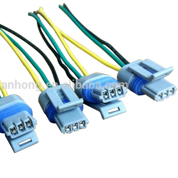 Heavy Duty 16-ga Ceramic 9005 9006 H1 H4 H7 H11 Wiring Harness Adapters on