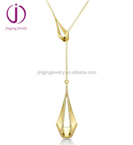 wholesale replica jewelry 925 sterling silver jewelry set pliage matte gold pendant