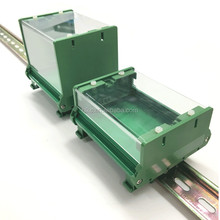 Big End Pieces & Covers for DIN Rail Plastic PCB board holders