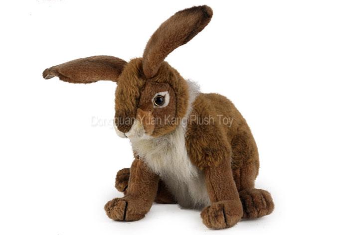 Wholesale Stuffed Realistic Plush Emulational Bunny Lifelike Animal