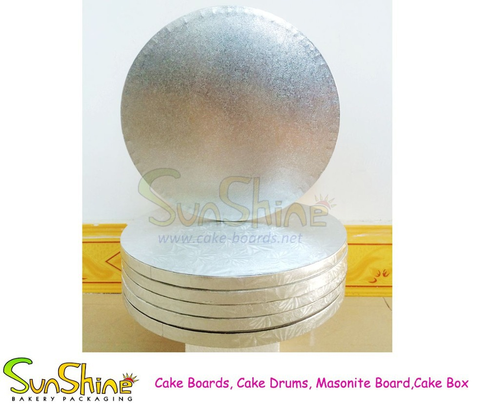 Cake drum, cake board, 12mm thick round square cake drum board