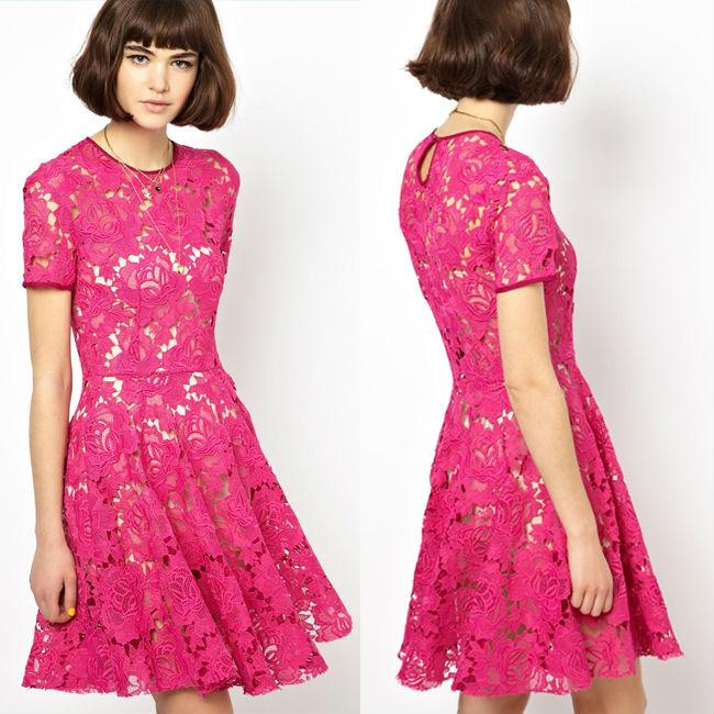 Vestidos de moda con manga corta