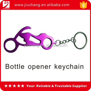 Funny motorcycle shaped beer bottle opener keychain