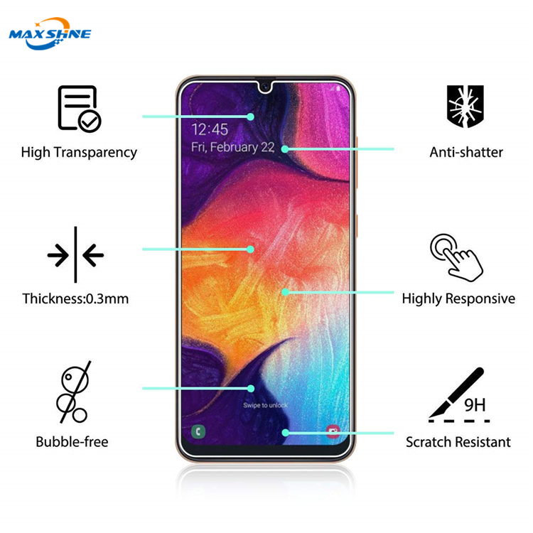 Maxshine Ultra-Thin High Definition Clear Tempered Glass Screen Protector For Samsung A40