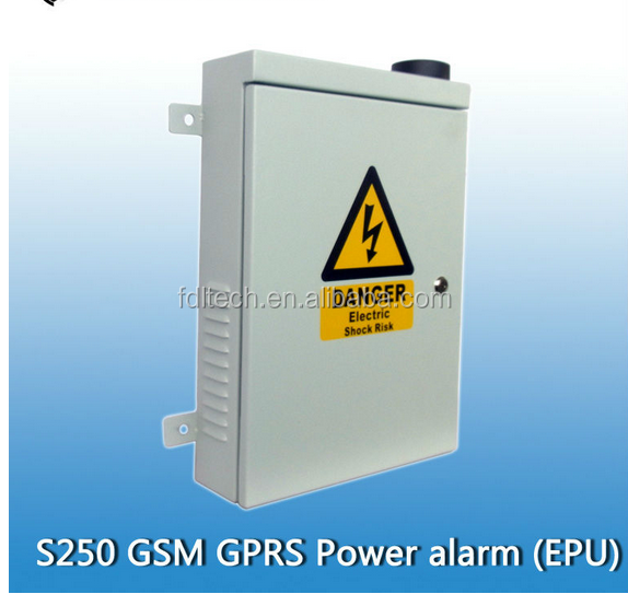 GSM GPRS outdoor Alarm and Control Panel S250 GSM Power facility monitoring system Lighting protection via PC software