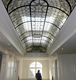 Handmade tiffany stained glass roof skylight with beauty pattern