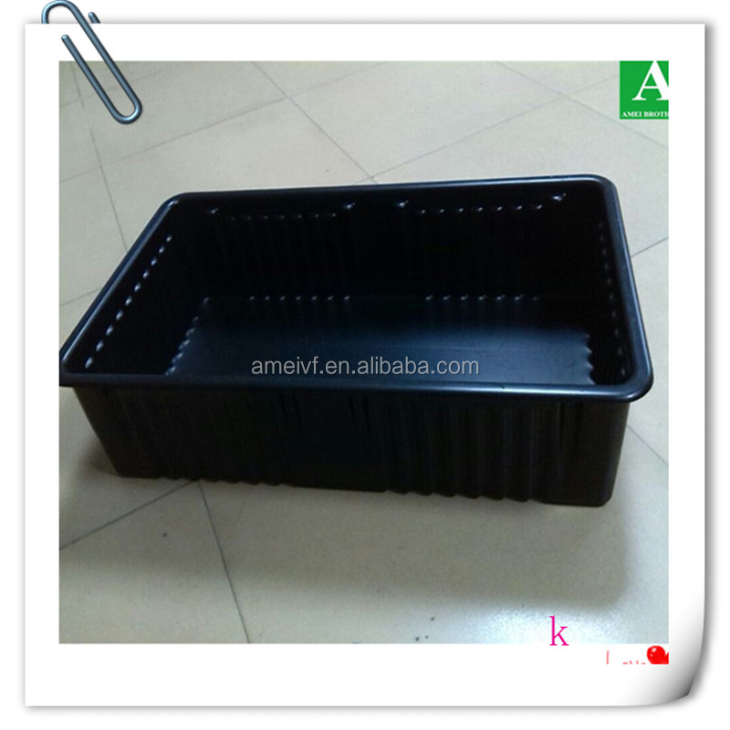 OEM vacuum thermo plastic display advertising tray for tea