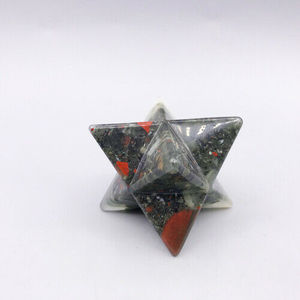 Wholesale Natural Beautiful The Dragon Blood Stone Merkaba Star For Healing