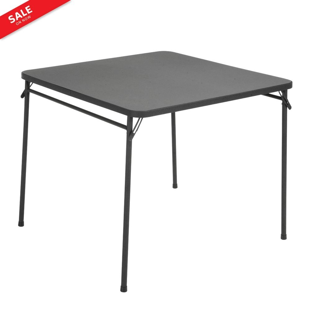 Square Portable Folding Table Black Utility Table Lightweight Inside Outside Resin Top Dining Or Card Games Storage Easy Square Metal Design Different Uses Storage & ebook by BADA shop