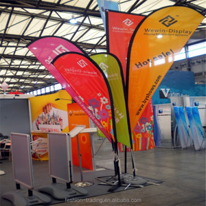 2014 new outdoor or indoor high quality beach flags poles